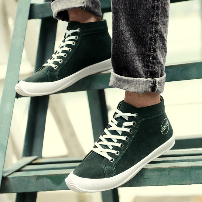 Chic Solid Color Lace-Up Men's Ankle Boots