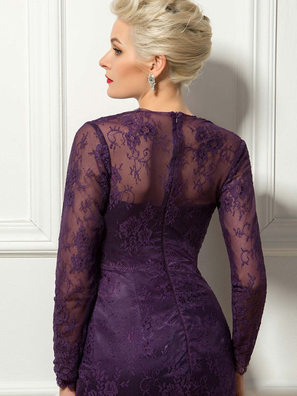 Timeless Lace Long Sleeves Sheath Short Cocktail Dress Designed