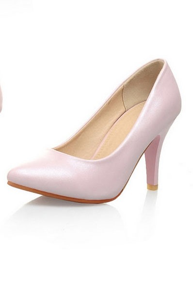 PU Round Toe Pumps