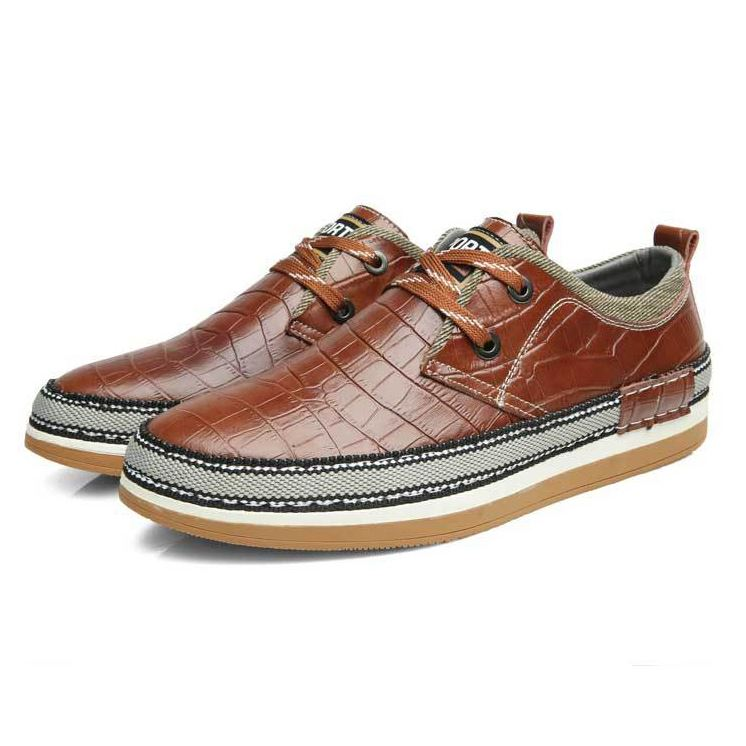 Embossed Quilted Lace-Up Patchwork Flats