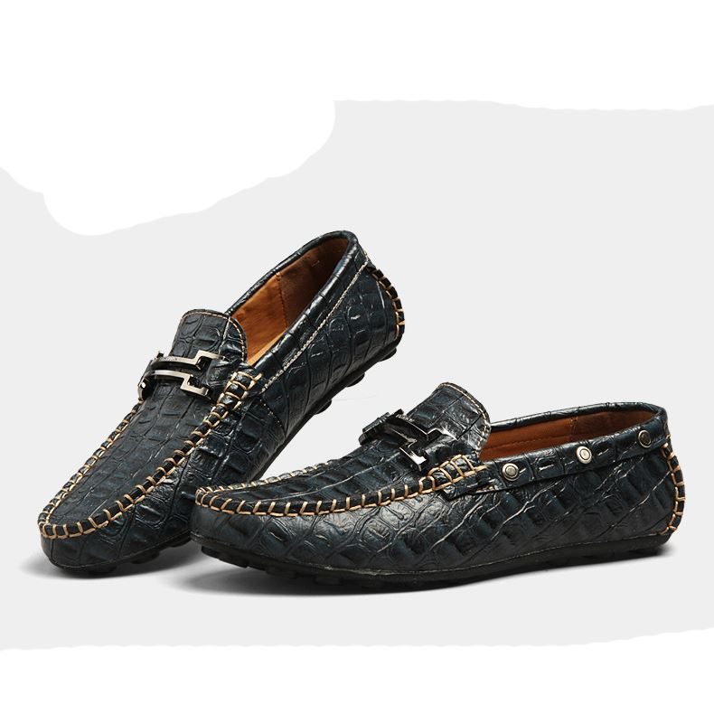 Metal Decorated Embossed Quilted Moccasin-Gommino