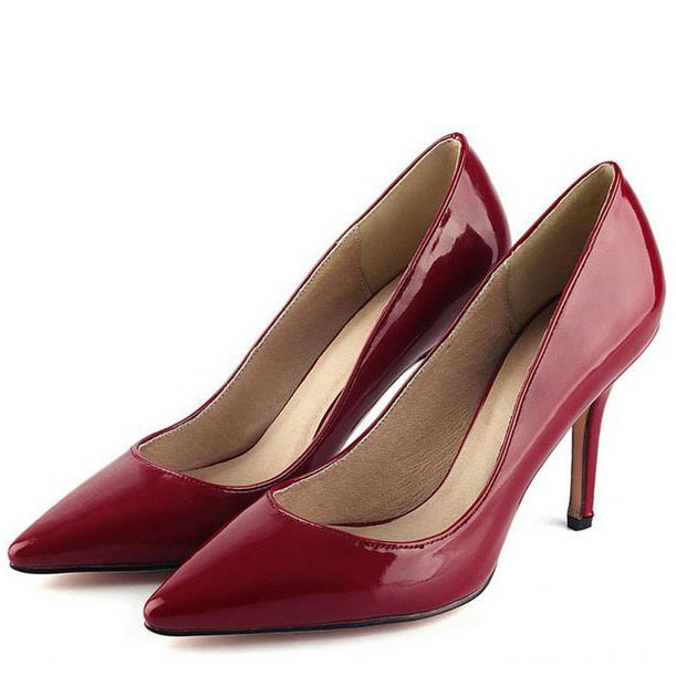 Solid Color Pointed Toe Pumps