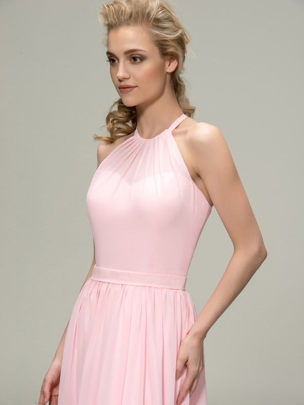 Ruched  A-Line Zipper-Up Bridesmaid Dress(Free Shipping)