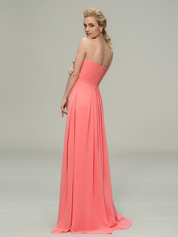 Classic Ruched Sweetheart Floor-Length Bridesmaid Dress