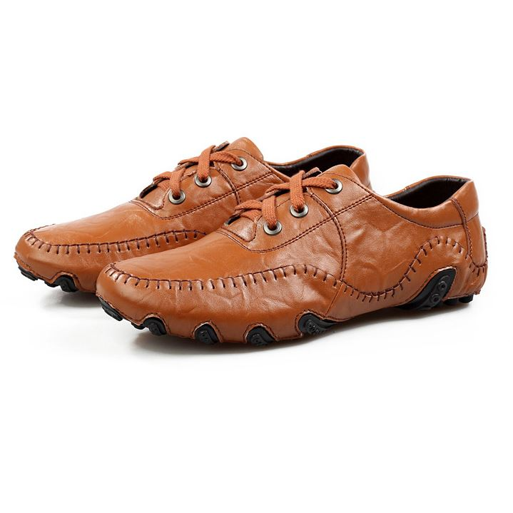 Patetn Leather Ruched Solid Color Men's Shoes
