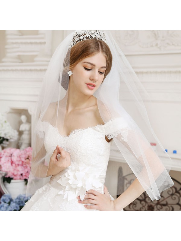 Off the Shoulder Lace Ball Gown Wedding Dress(Free Shipping)