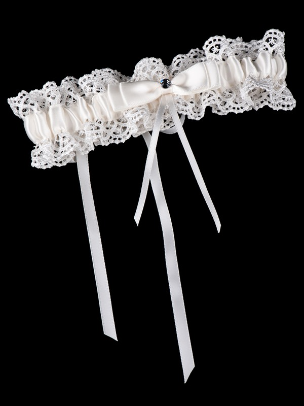 Ivory Bowknot Lace Wedding Garters