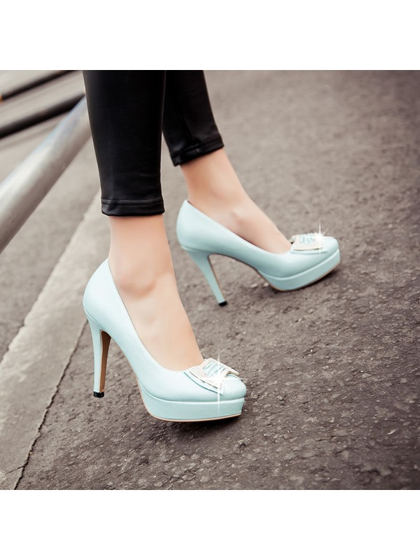 New Rhinestone Bowknot Decorated Solid Color Pumps