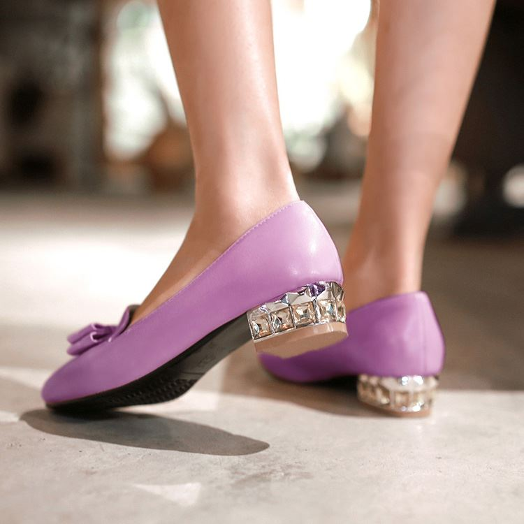 Cute Bowknot Decorated Pointed Toe Solid Color Flats