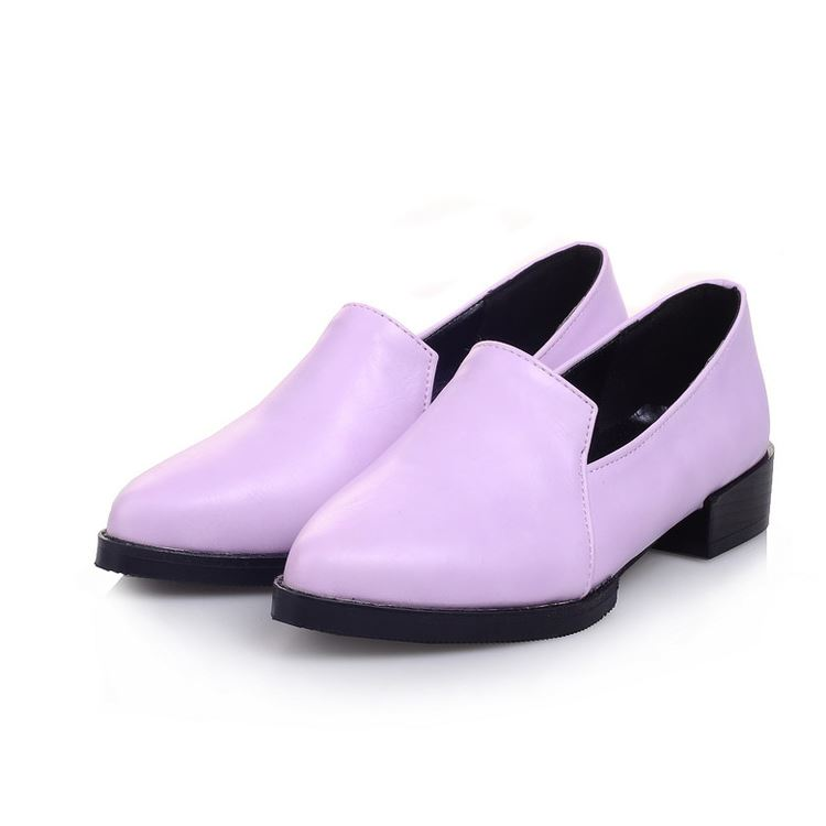 Classy Solid Color Pointed Toe Flats