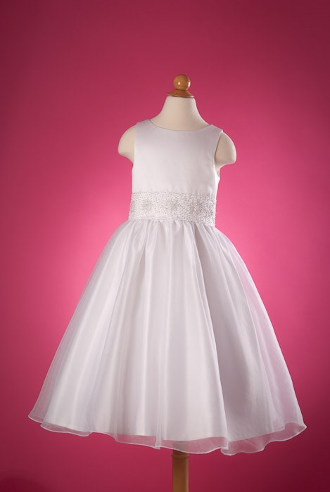 Lovely Ball Gown Round-Neck Appliques Flower Girl Dress