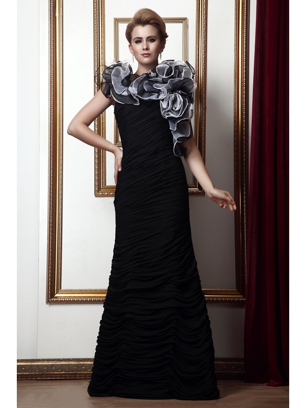 Graceful Cascading Ruffles Trumpet Floor-Length Alina's Mother of the Bride Dress