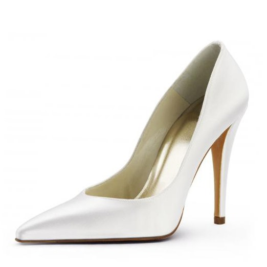 Leatherette Upper Stiletto Heel Closed-toes Wedding Bridal Shoes