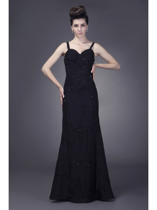 Beaded Mermaid Spaghetti Straps Floor-Length Anderai's Mother of the Bride Dress With Jacket/Shawl