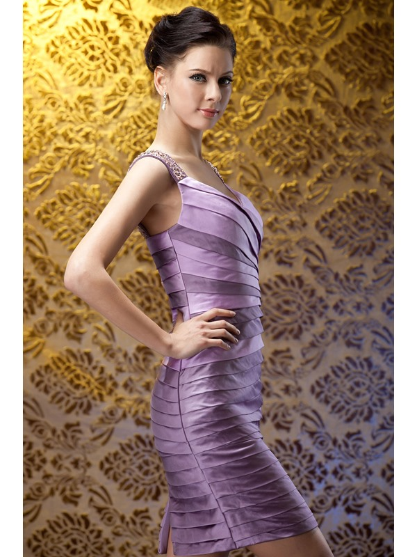 Fabulous Beading Pleats Sheath/Column Sweetheart Neckline Polina's Mother of the Bride Dress With Jacket/Shawl
