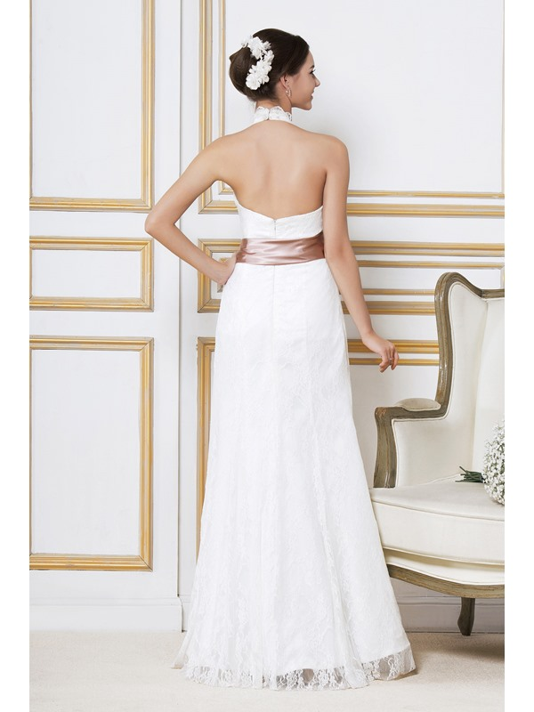 Fashion Top Ankle- Length Empire Halter Lace Sandra's Wedding Dress