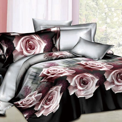 Lingering Charm of Roses 4- Piece 100% Cotton Bedding Sets(Free Shipping)