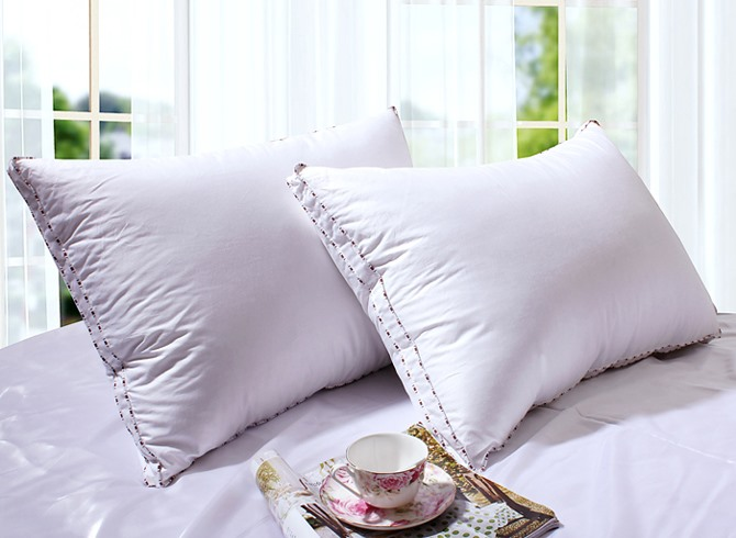Decorative Down Pillow With Coffee Covering