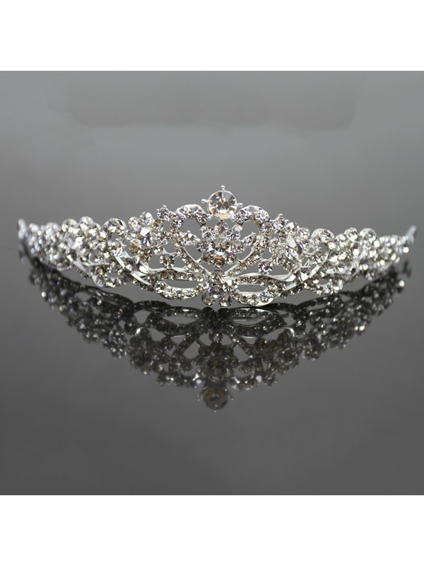 Modern Vintage Style Alloy with Cute Rhinestone Wedding Tiaras