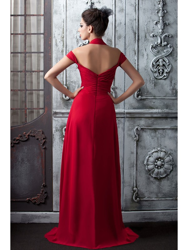 Attractive Pleats A-Line Halter Floor-Length Taline's Bridesmaid Dress