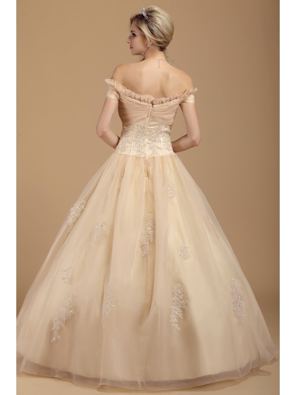 Exclusive Off-the-shoulder Appliques Floor-length Dasha's Quinceanera Dress