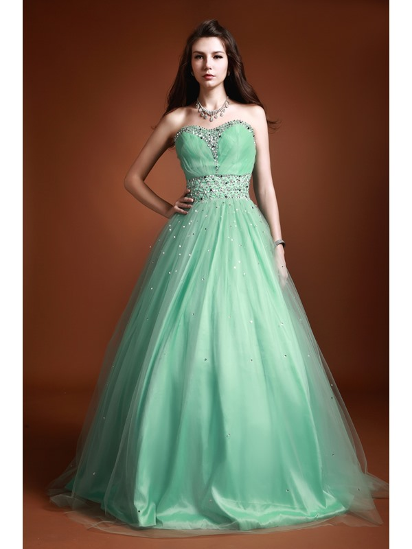 Dramatic Sweetheart A-Line Beading Sequins Luba's Long Quinceanera Dress