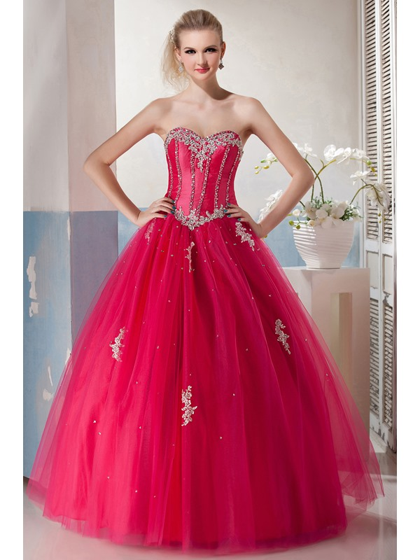 Sweetheart Appliques Sequins Floor-Length Yana's Quinceanera Dress