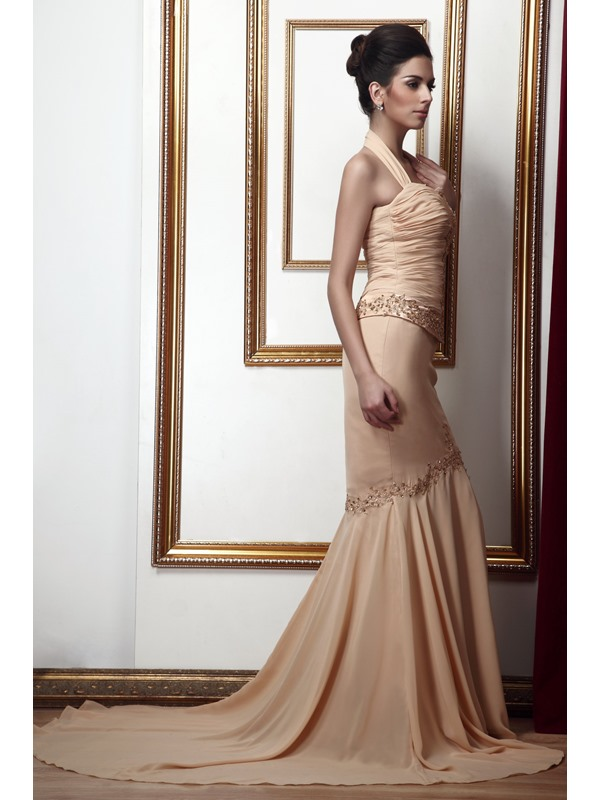 Attractive Lace/Sequins Trumpet/Mermaid Halter Sweep/Brush-Train Taline's Mother of the Bride Dress With Jacket/Shawl