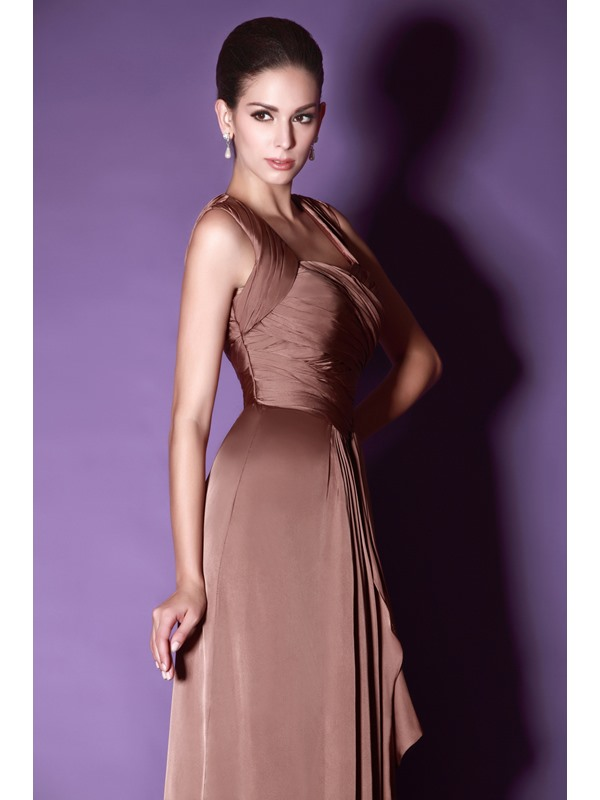 Fashionable Draped A-line Sweetheart Straps Floor-Length Taline's Bridesmaid Dress